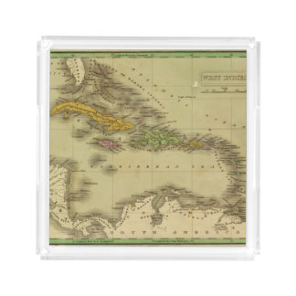 West Indies 6 Acrylic Tray
