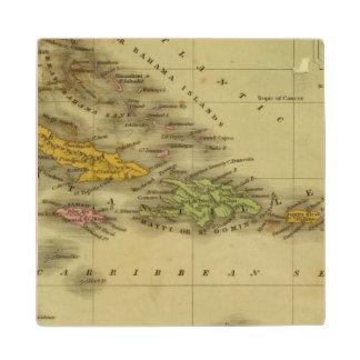 West Indies 6 Wood Coaster