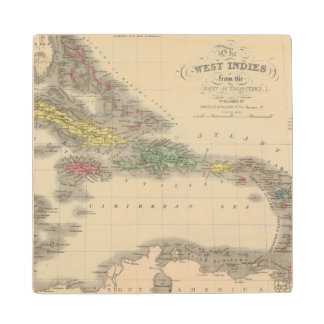 West Indies 9 Wood Coaster
