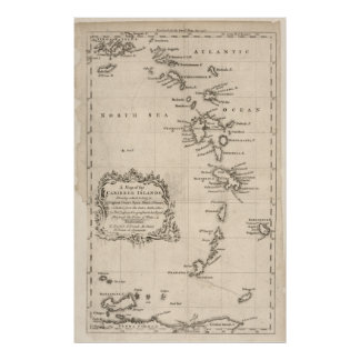 West Indies Antique Map Poster