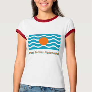 West Indies Federation Flag with Name Tshirts