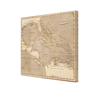 West Indies Map by Arrowsmith Canvas Print