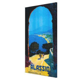 West Italian Riviera Travel Poster Canvas Print