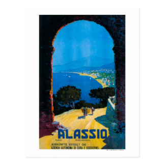 West Italian Riviera Travel Poster Postcard