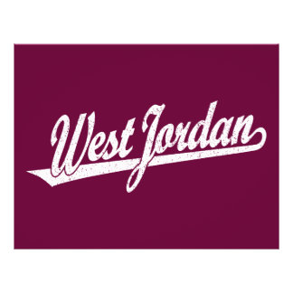 West Jordan script logo in white distressed 21.5 Cm X 28 Cm Flyer