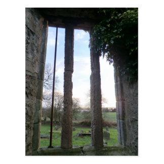 West Kirk: Window Onto an Abandoned Churchyard Postcard
