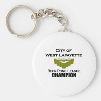 West Lafayette Beer Pong Champion Key Chains
