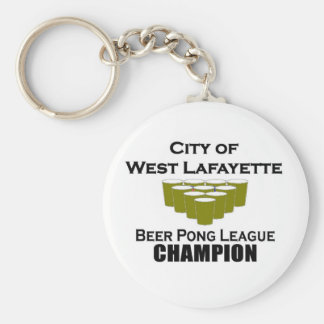 West Lafayette Beer Pong Champion Keychain