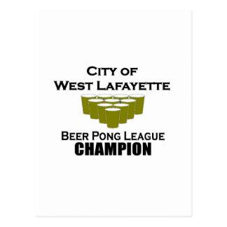 West Lafayette Beer Pong Champion Postcard