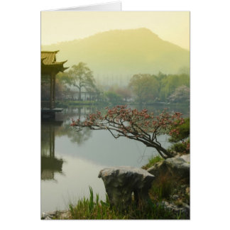 west lake, China Greeting Card