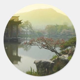 west lake, China Round Sticker