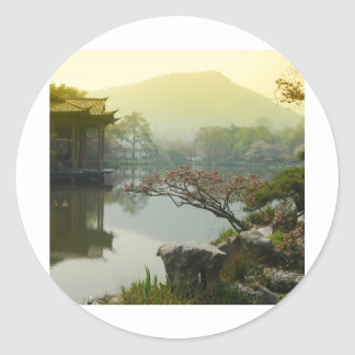 west lake, China Classic Round Sticker