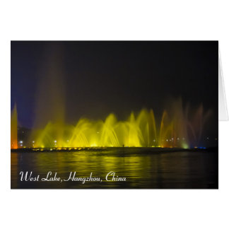 West Lake Colorful Light-Show Greeting Card