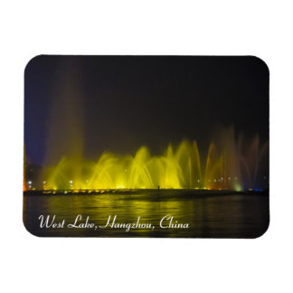West Lake Colorful Light-Show Rectangular Photo Magnet
