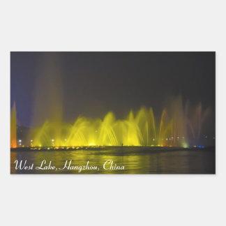 West Lake Colorful Light-Show Rectangular Sticker