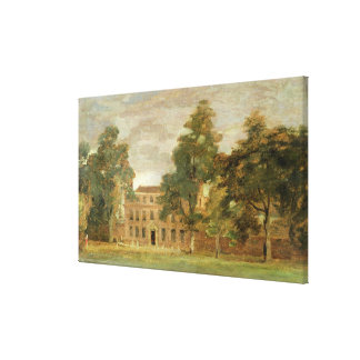 West Lodge, East Bergholt (oil on paper laid on pa Canvas Print