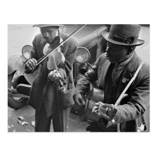 West Memphis Street Musicians, 1935 Postcard