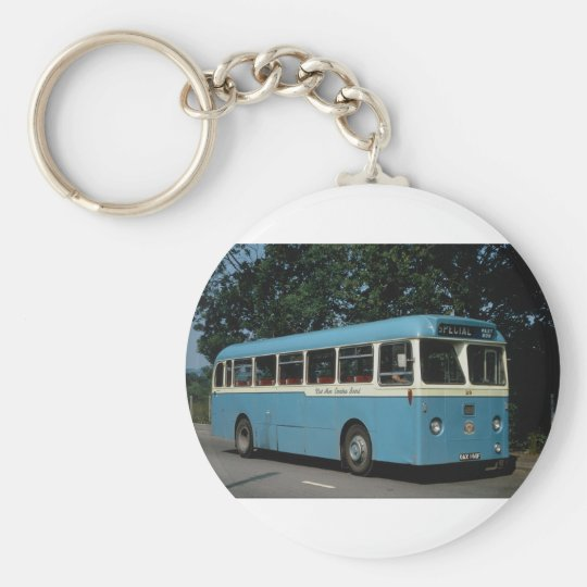 """West Monmouthshire Leyland """"""""Leopard"""""""" rests at Bl Basic Round Button Key Ring"""