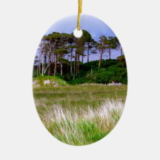 """West of Ireland Landscape"" Christmas Ornament"