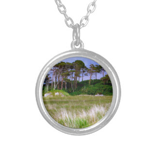 """West of Ireland Landscape"" Round Pendant Necklace"