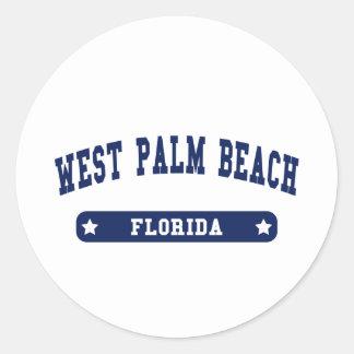 West Palm Beach Florida College Style tee shirts Sticker
