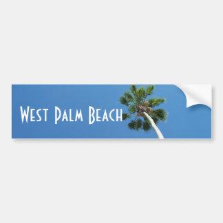 West Palm Beach Florida Palm Tree Bumper Sticker Car Bumper Sticker