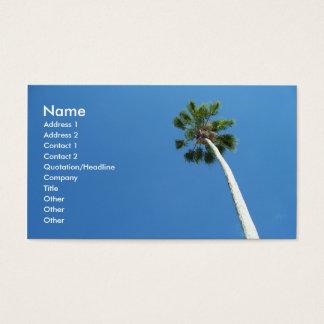 West Palm Beach Florida Palm Tree Business Card