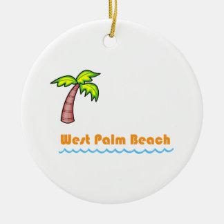 West Palm Beach Round Ceramic Decoration