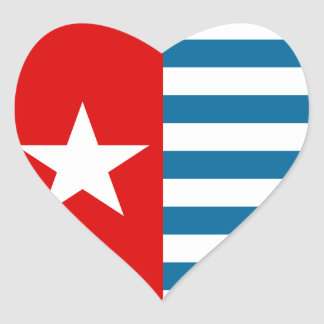 west papua heart sticker