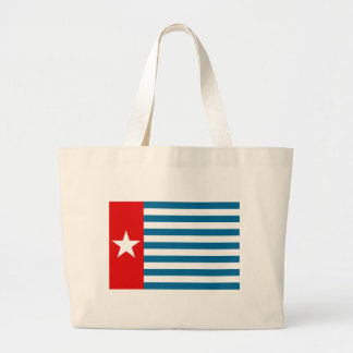 west papua large tote bag