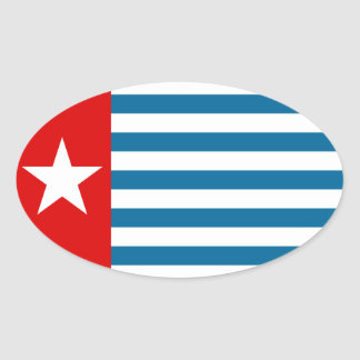 west papua oval sticker