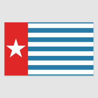 west papua rectangular sticker