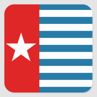 west papua square sticker