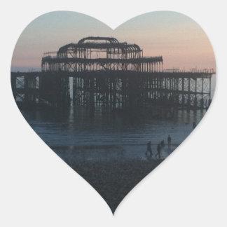 West Pier Brighton Heart Sticker