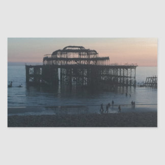 West Pier Brighton Rectangular Sticker
