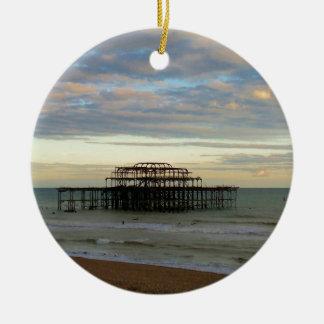 West Pier Brighton Round Ceramic Decoration