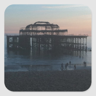 West Pier Brighton Square Sticker