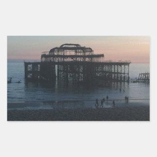 West Pier Brighton Rectangular Stickers