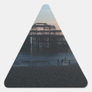 West Pier Brighton Triangle Sticker