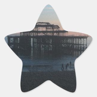 West Pier Brighton Star Sticker