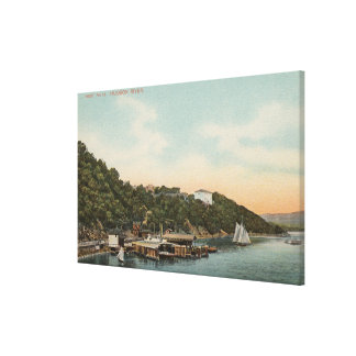 West Point, NY - View of Harbor on Hudson River Canvas Print