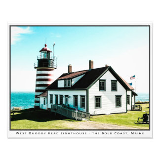 "West Quoddy Head Lighthouse (20"" x 16"") Art Photo"