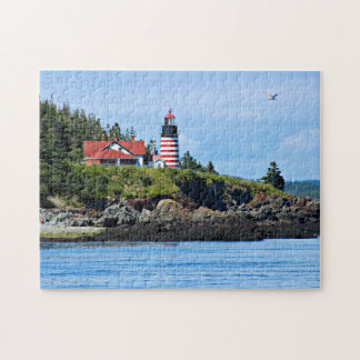 West Quoddy Head Lighthouse, Lubec Maine Jigsaw Puzzle