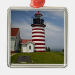 West Quoddy Head Lighthouse State Park is the Silver-Colored Square Decoration