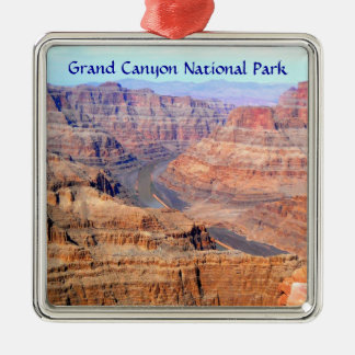 West Rim Grand Canyon National Park Silver-Colored Square Decoration