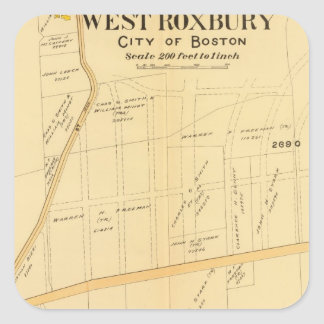 West Roxbury, Massachusetts Square Sticker