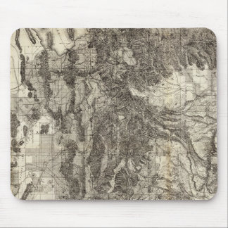 West s New Sectional and Topographical Map Of Utah Mousepad