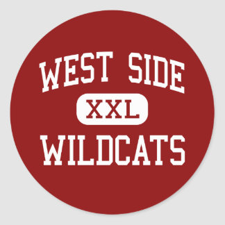 West Side - Wildcats - Middle - Groton Connecticut Round Stickers