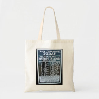 West Somerset Railway Minehead station timetable Canvas Bags