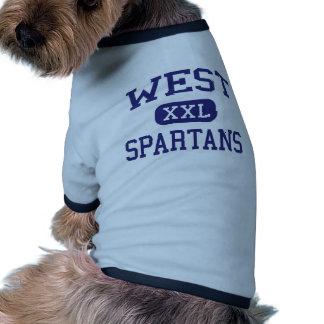 West - Spartans - High - West Bend Wisconsin Pet T Shirt